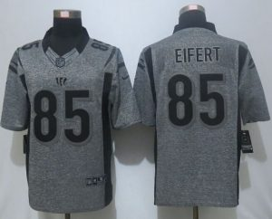 2016 New Nike Cincinnati Bengals 85 Eifert Gray Men's Stitched Gridiron Gray Limited Jersey