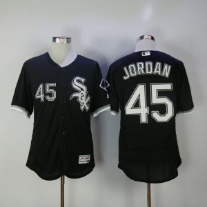 2017 MLB Chicago White Sox 45 Jordan Black Elite Jerseys