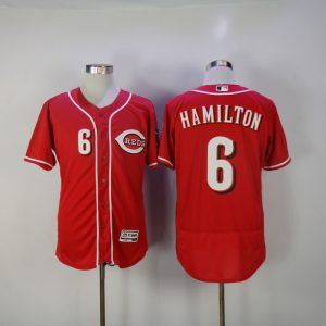 2017 MLB Cincinnati Reds 6 Hamilton Red Elite Jerseys