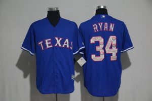 2017 MLB Texas Rangers 34 Ryan Blue Fashion Edition Jerseys