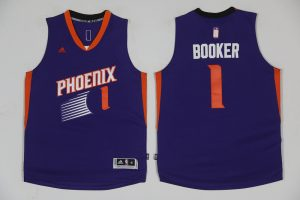 2017 NBA Phoenix Suns 1 Devin Booker Purple Jerseys