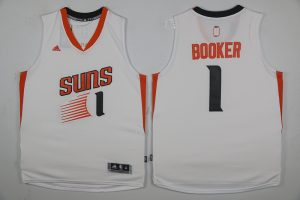 2017 NBA Phoenix Suns 1 Devin Booker White Jerseys