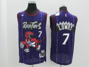 2017 NBA Toronto Raptors 7 Kyle Lowry Purple Jerseys